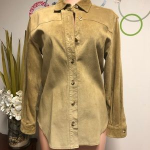 Charter Club suede button down shirt SP